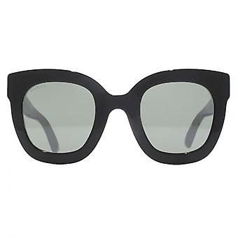 Gucci Star Temple Square Sunglasses In Black Mirror