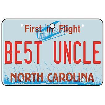 North Carolina - Best Uncle License Plate Car Air Freshener