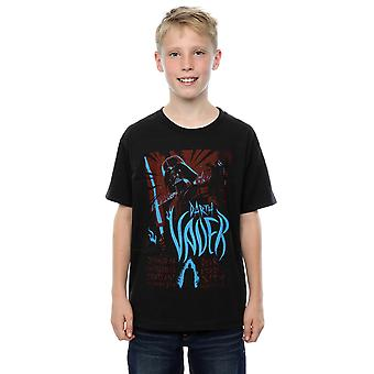 Star Wars Boys Darth Vader Rock Poster T-Shirt