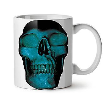 Cráneo de la muerte Metal oscuro nuevo té blanco taza de café de cerámica 11 oz | Wellcoda