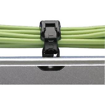 Cable mount self-sealing, heat -stabilised Black