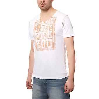 RUSTY NEAL T-Shirt Always V-Neck Herren Weiß