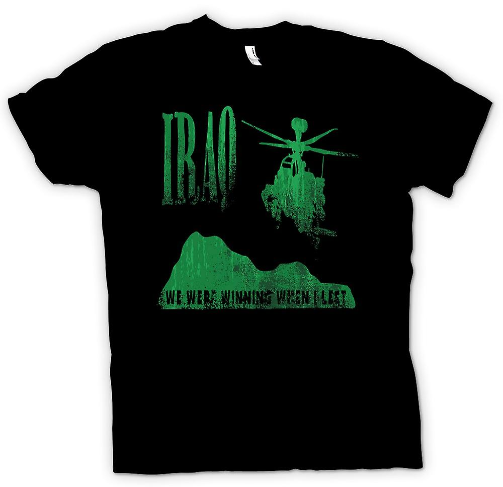 Mens T-shirt - Iraq  - We Were Winning When I Left