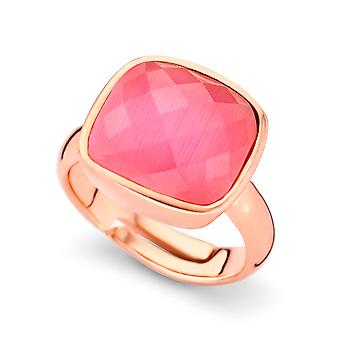 Orphelia Silver 925 Ring Rose Gold Pink  Zirconium   ZR-7198/PI