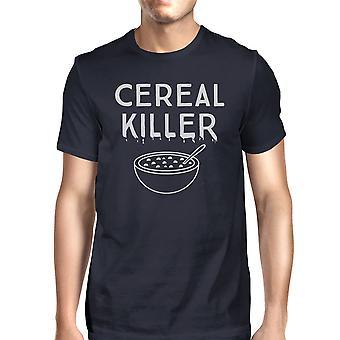 T-shirt assassino cereais Mens Marinha engraçado Halloween gráfico t-Shirt