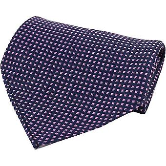 David Van Hagen pole wzorca Silk Pocket Square - Navy/różowy
