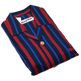 Bown of London Knightsbridge Pyjamas - Black/Red/Blue