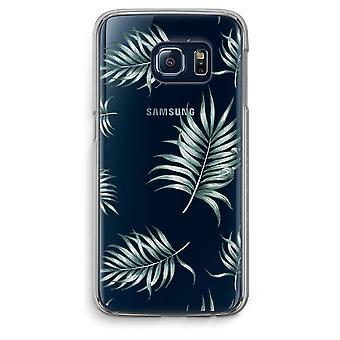 Samsung Galaxy S6 borda transparente caso (Soft) - folhas simples