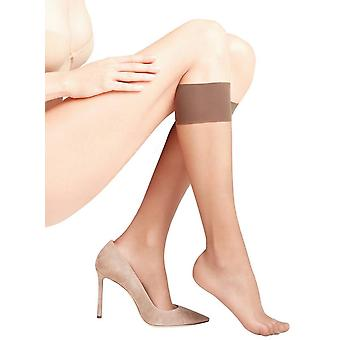 Falke Seidenglatt 15 Den Transparent Shining Knee High Tights - Coffee Brown