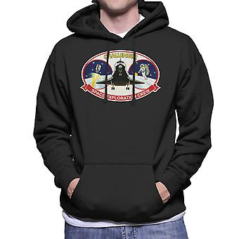 NASA STS 41B Challenger Mission Patch Men's Hooded Sweatshirt