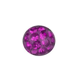 Ersatz-Ball Piercing, Multi Kristall Steinen lila | 3 - 8 mm