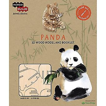 IncrediBuilds Animal Collection Panda 3D Wood Model