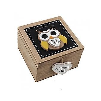 Best Teacher Owl Trinket Box