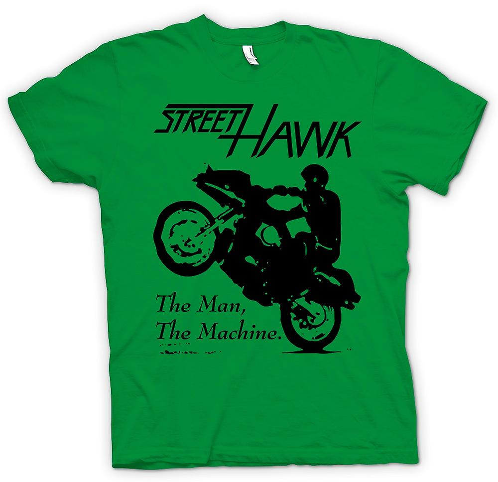 Mens T-shirt-Street Hawk - Bike - Crime Fighter