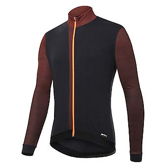 Santini Flashy Orange 2018 Fashion Origine Long Sleeved Cycling Jersey