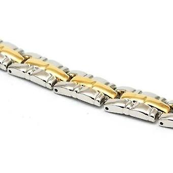 The Olivia Collection Silvertone & Goldtone Magnetic Bracelet 7.5 inches.