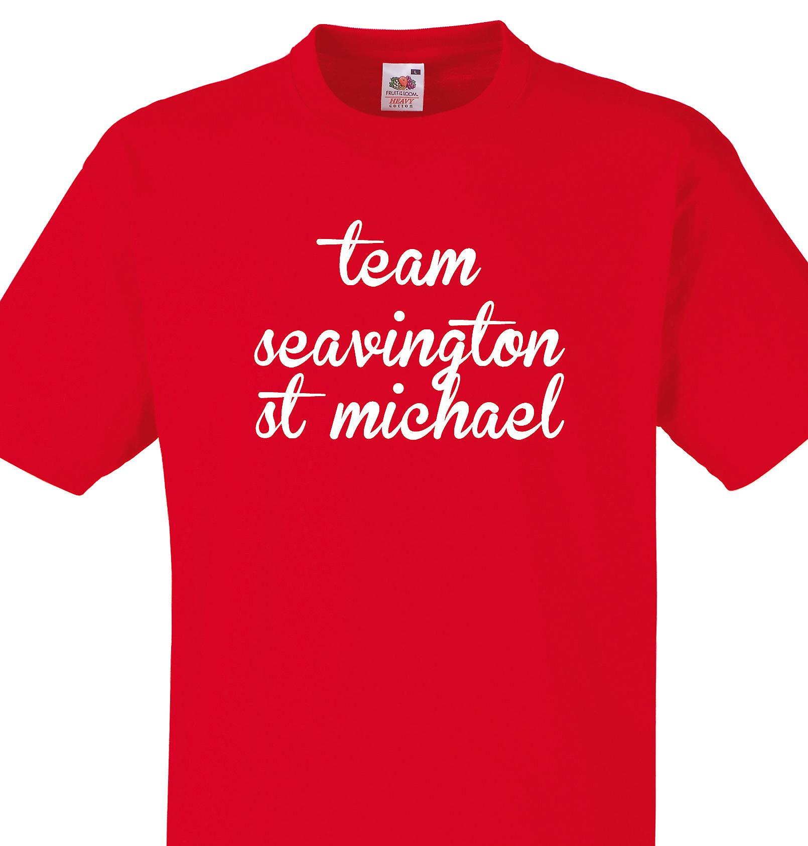 Team Seavington st michael Red T shirt
