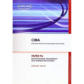 Organisational Management and Information Systems - Study Text: Paper P4