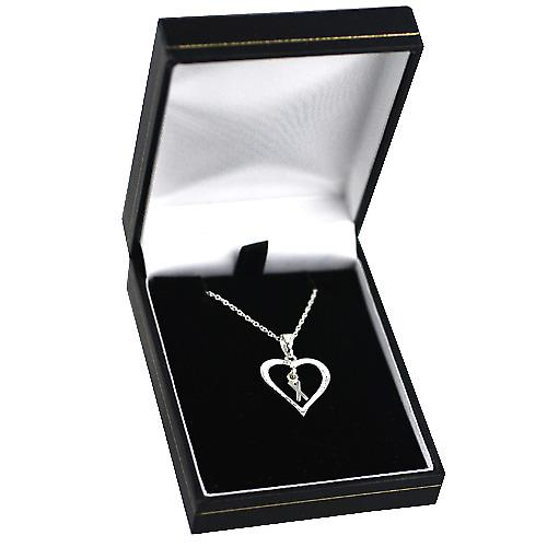 Silver 18x18mm initial X in a heart Pendant with a rolo Chain 14 inches Only Suitable for Children