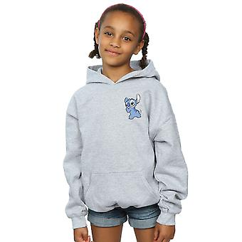 Disney Girls Lilo And Stitch Stitch Backside Breast Print Hoodie