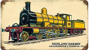 Highland Railway rusted metal sign   (pst 148)