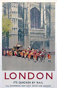 London Westminster (old rail ad.) fridge magnet  (se)