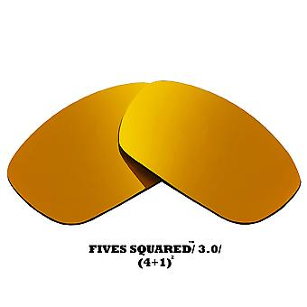FIVES 3.0 Replacement Lenses Polarized Gold Mirror by SEEK fits OAKLEY