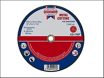 Faithfull Cut Off Disc for Metal 300 x 3.5 x 20mm