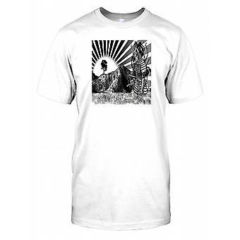 Japanese Samurai Art Kids T Shirt