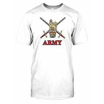 British Army Insignia Crown and Lion Kids T Shirt