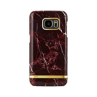 Richmond & Finch covers for Samsung Galaxy S7 Edge-Red Marble