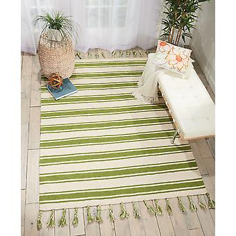 Rio Vista DST01 Ivory Green  Rectangle Rugs Modern Rugs