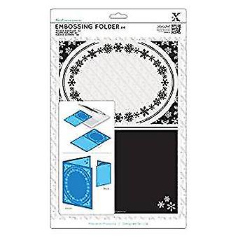 Xcut A4 Embossing Folder - Snowflake Frame (XCU 515912)