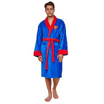 DC Comics Superman Adult Fleece Dressing Gown-ONE SIZE