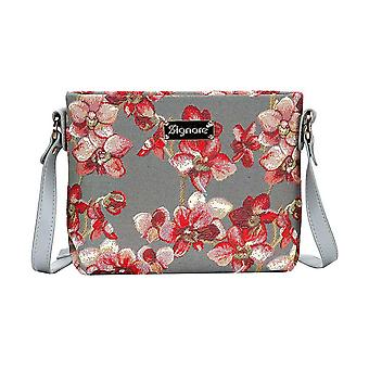 Orchid cross body shoulder bag by signare tapestry / xb02-orc