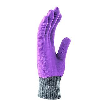 Nike Youth Purple Color Block Knitted Handschuhe