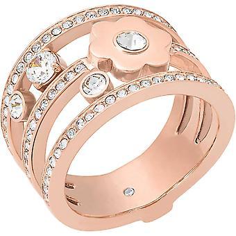 Michael Kors Ladies Brilliance Crystal Gold Tone Ring - Mkj7173791