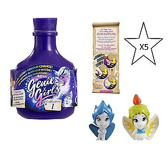 Genie Girls In A Bottle Collection 1 Purple - 5 X Bottles - Bundle