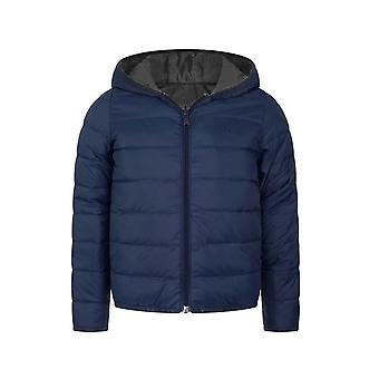 BOSS Kidswear Navy & Grey Down Filled Reversible Jacket