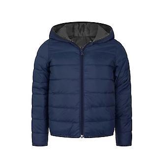BOSS 儿童服装海军蓝 & 灰色羽绒填充可逆夹克