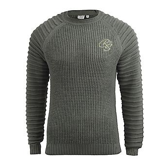 Mens knitwear crosshatch sweater top