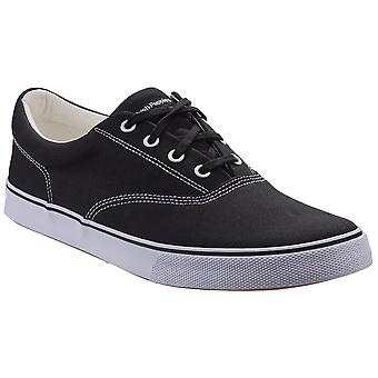 Hush Puppies Mens Chandler Tela Pizzo Up Plimsolls Scarpe