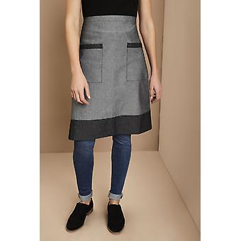 Simon Jersey Grey Denim Short Apron With Pockets