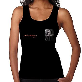 A.P.O.H William Shakespeare Black And White Portrait Women's Vest