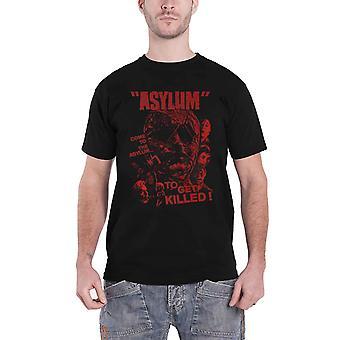 Asylum T Shirt Movie Red Logo new Official Plan 9 Vintage Horror Mens Black