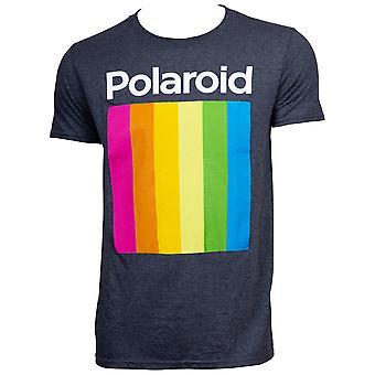 Polaroid logo mannen ' s zwart T-shirt