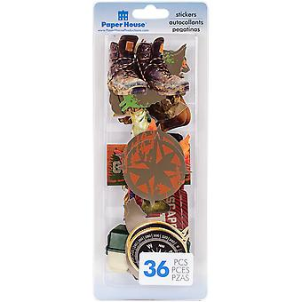 Paper House Self-Adhesive Die-Cuts 36/Pkg-Outdoors STDC-0011E