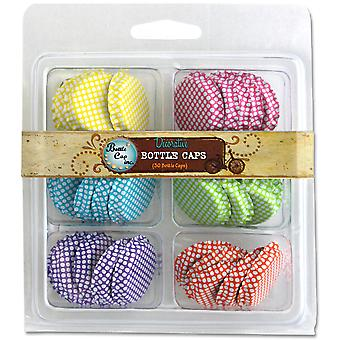 Vintage Collection Double Sided Bottle Caps Multi Pack 30 Pk Polka Dots Sbc30 Plka