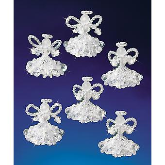Holiday Beaded Ornament Kit Crystal Angels 2