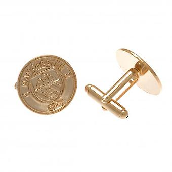 Manchester City Gold Plated Cufflinks